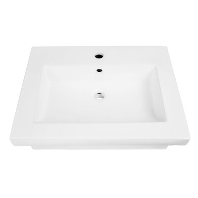 """Lilac Classically Redefined Lavatory 24"""" Wall Mount Bathroom Sink with Overflow"""