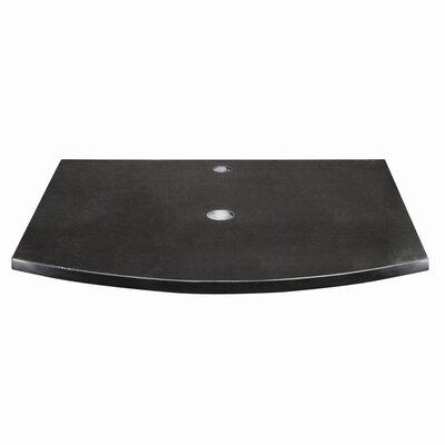 "Lola Granite 25"" Single Bathroom Vanity Top Finish: Black"