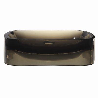 Lacee Incandescense Plastic Rectangular Vessel Bathroom Sink Sink Finish: Shadow