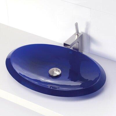 Incandescence Oval Vessel Bathroom Sink Sink Finish: Depth