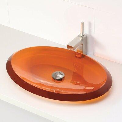 Incandescence Oval Vessel Bathroom Sink Sink Finish: Magma
