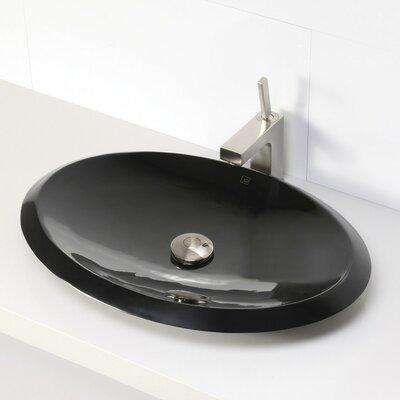 Incandescence Oval Vessel Bathroom Sink Sink Finish: Obsidian