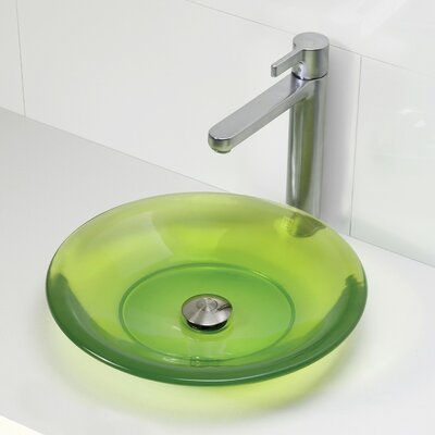 Nadine Incandescense Plastic Circular Vessel Bathroom Sink Finish: Absinthe