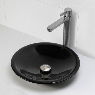 Nadine Incandescense Plastic Circular Vessel Bathroom Sink Finish: Obsidian