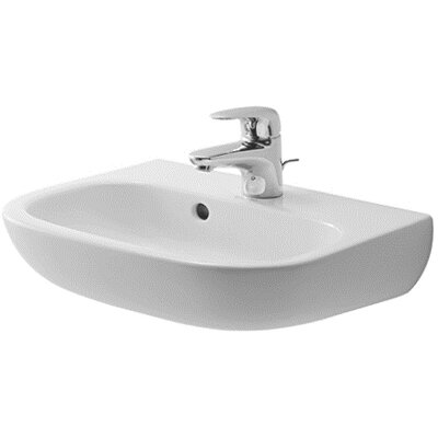"D-Code Ceramic 18"" Wall Mount Bathroom Sink with Overflow"