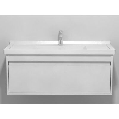 "Ketho 39.38"" Single Vanity Base Base Finish: White Matte"
