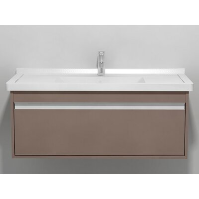 "Ketho 39.38"" Single Vanity Base Base Finish: Basalt Matte"