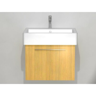 "Vero 22"" Wall Mounted Vanity Base Base Finish: Bleached Oak"