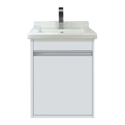 "Wall Mount 17"" Single Bathroom Vanity Base Base Finish: White Matte"