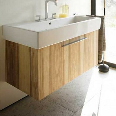 Vero Wall Mounted Vanity Base Finish: Bleached Oak