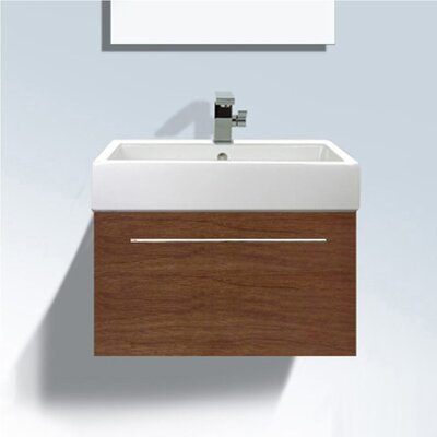 Vero Wall Mounted Vanity Base Finish: American Walnut