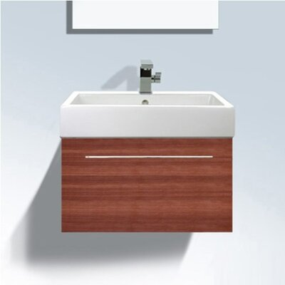 Vero Wall Mounted Vanity Base Finish: American Cherry Tree