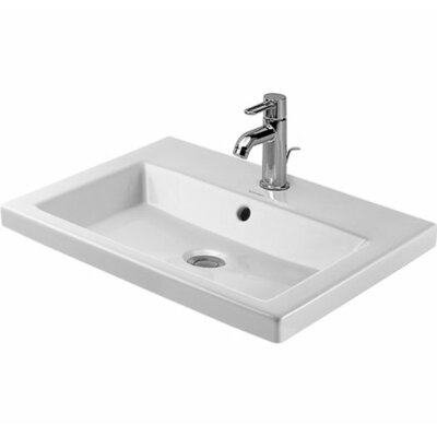 "2nd Floor Ceramic 24"" Wall Mount Bathroom Sink with Overflow"