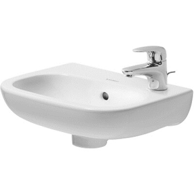 "D-Code Ceramic 15"" Wall Mount Bathroom Sink with Overflow"