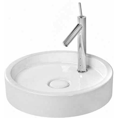 Starck 1 Ceramic Circular Vessel Bathroom Sink