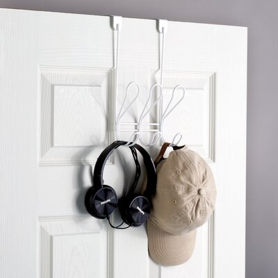 Dolen Over the Door Coat and Hat Wall Mounted Coat Rack Finish: White
