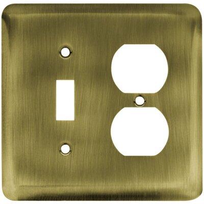 Franklin Brass Stamped Steel Round Single Switch/Duplex