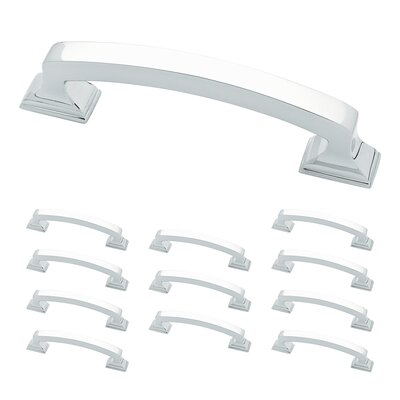 "Classic Edge 3 3/4"" Center Arch Pull Color: Polished Chrome"
