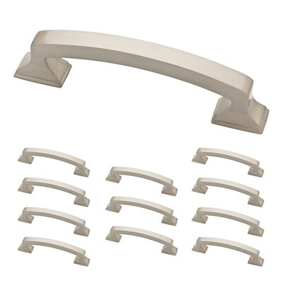 "Classic Edge 3 3/4"" Center Arch Pull Color: Satin Nickel"