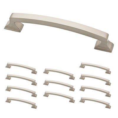 "Classic Edge 5"" Center Arch Pull Color: Satin Nickel"