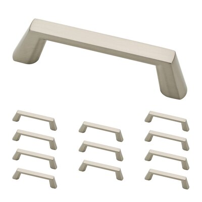 "Soft Modern 3.75"" Center Appliance Pull Color: Satin Nickel"