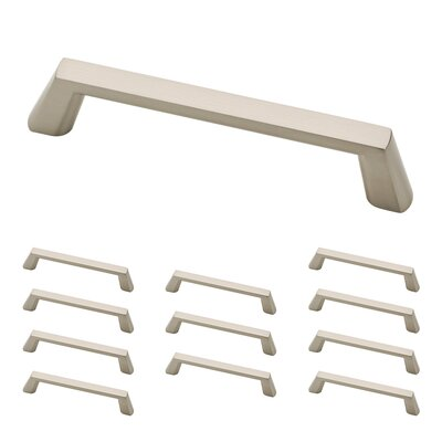 "Soft Modern 5"" Center Appliance Pull Color: Satin Nickel"
