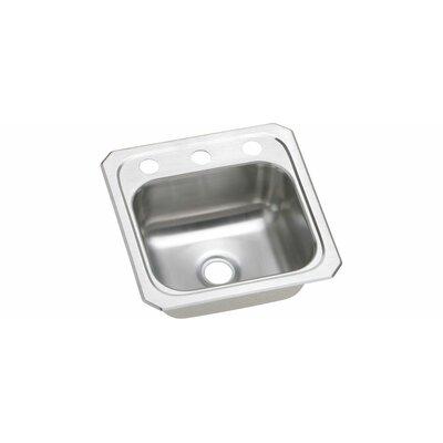 """Elkay Gourmet 15"""" x 15"""" Top Mount Kitchen Sink"""