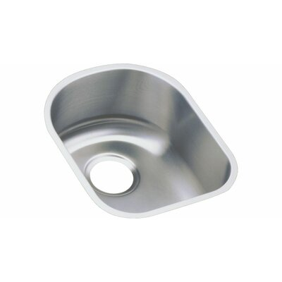 "Elkay Lustertone 14"" x 17.5"" Undermount Single Bowl Kitchen Sink"