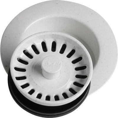 """Disposer Flange 3.5"""" Pop-Up Kitchen Sink Drain Finish: White"""