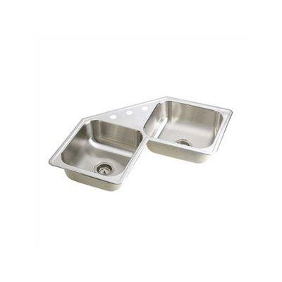 """Elkay Dayton 31.88"""" x 31.88"""" Elite Top Mount Corner Kitchen Sink"""