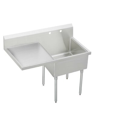 "55.5"" x 27.5"" Single Cs-4-Commercial Scullery Sink"