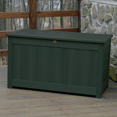 Taja Synthetic Wood Deck Box Color: Charleston Green