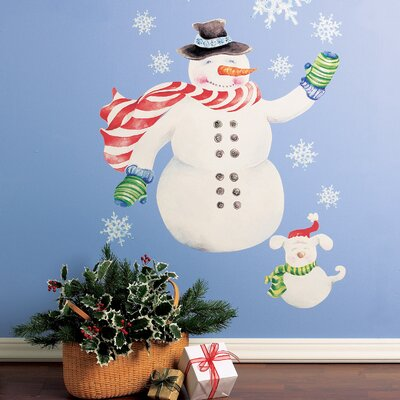 Wallies Snowman Vinyl Holiday Wall Decal