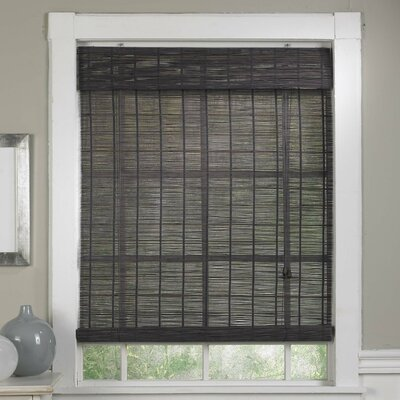 """Bamboo Semi-Sheer Roll-Up Shade Blind Size: 55"""" W x 63"""" L, Color: Gray"""