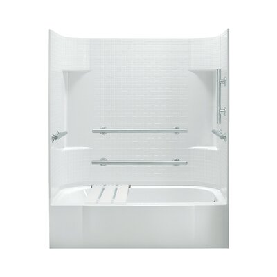 """Sterling by Kohler Accord 74.25"""" ADA Bath/Shower Kit with Right Hand Drain"""