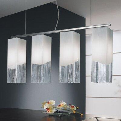 Selene Illuminazione Design-Pendelleuchte 4-flammig Quadro