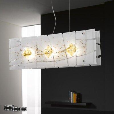 Selene Illuminazione Balken-Pendelleuchte 3-flammig Frame