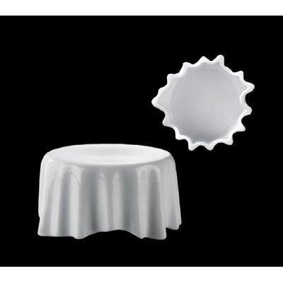 """Zieher Miniatur-Teller """"Dresscoat"""" aus Porzellan in Weiß (12er Pack)"""