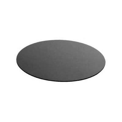 Zieher Glasplatte in Schwarz