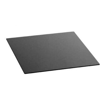 Zieher Glasplatte in Schwarz mit gerundeten Ecken
