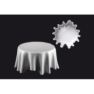 """Zieher 13cm Plateau-Teller """"Dresscoat"""" aus Porzellan in Weiß (6er pack)"""