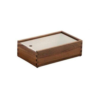 Zieher 26,5cm x 16,2cm Besteckbox mit Deckel und 4 Füßen