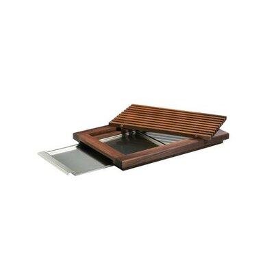 Zieher 48cm x 32,5cm Brotschneidebrett mit 4 Füßen, Gitterrost und Krümelschublade