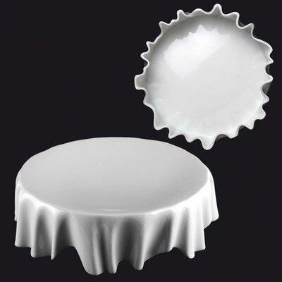 """Zieher 22cm Plateau-Teller """"Dresscoat"""" aus Porzellan in Weiß (3er pack)"""