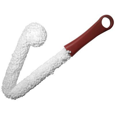 Epicureanist Wine Decanter Cleaning Brush in White and Red