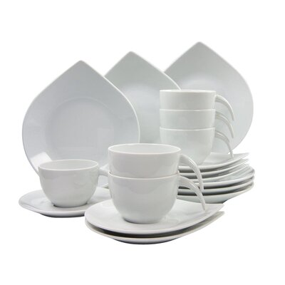 Creatable Porcelain Coffee Service 18 Piece Porcelain Dinnerware Set