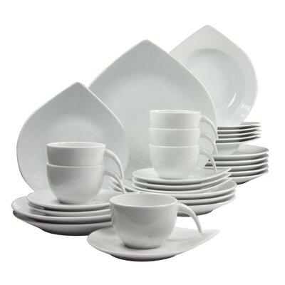 Creatable Porcelain Combo Service 30 Piece Porcelain Dinnerware Set