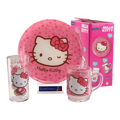 Creatable Children's Service Hello Kitty Sweet 3 Piece Place Setting