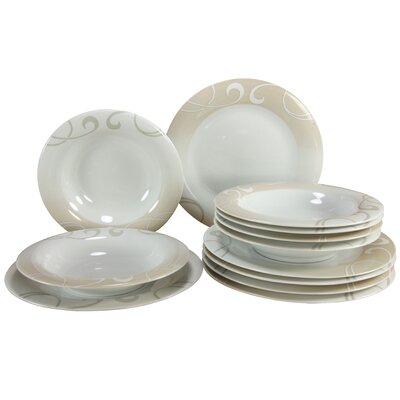 Creatable Soft 12 Piece Porcelain Dinnerware Set
