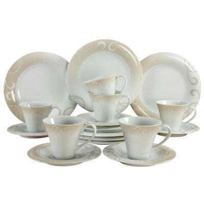 Creatable Soft 18 Piece Porcelain Dinnerware Set